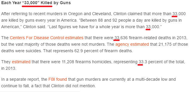 33 thousend killed each year