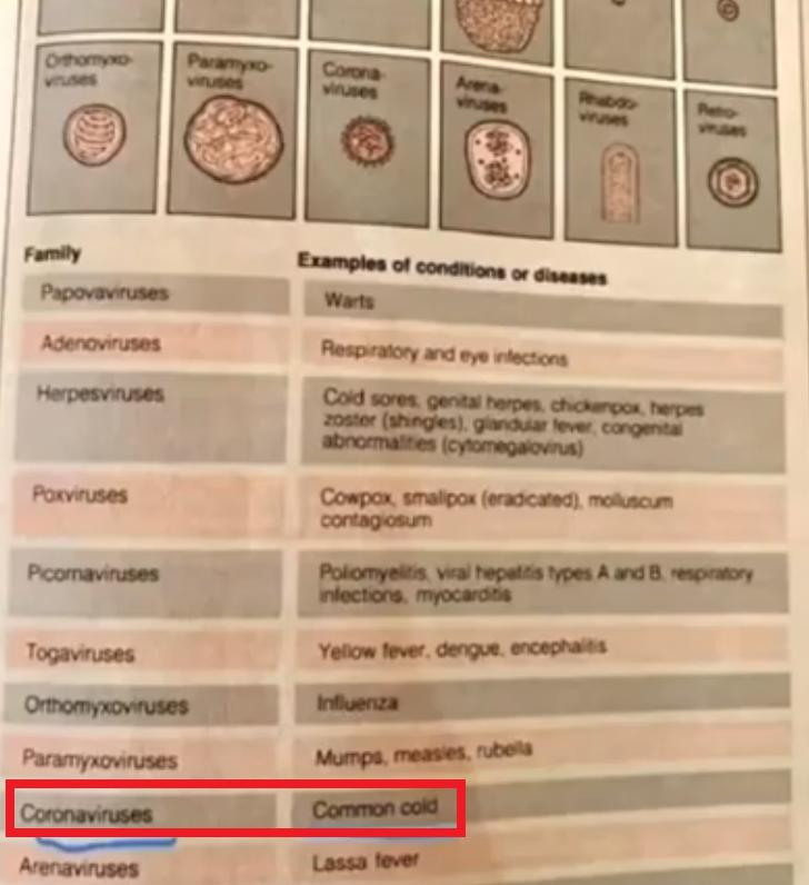 Coronavirus covis-19 is just common cold proof textbook 80s